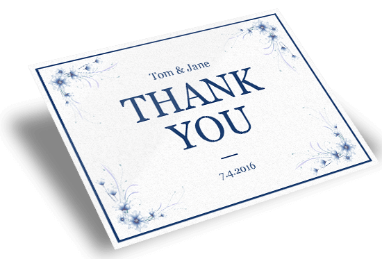 custom thank you card printing online